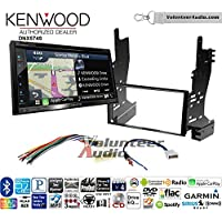 Volunteer Audio Kenwood DNX574S Double Din Radio Install Kit with GPS Navigation Apple CarPlay Android Auto Fits 2007-2008 Nissan Maxima