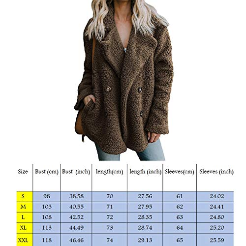 Casual Manteau Femmes Top Vrac En Outwear À Solides Marron Automne Les Peluche Fille Manches Longues fIqKvKwdxT