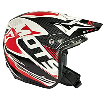 Mots MT6205SR Trial Go On 2 Casco, Rojo, Talla S