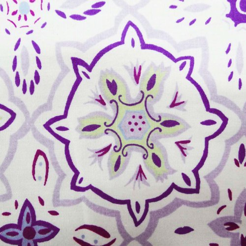 """White Fabric 42"""" Width Floral Pattern Apparel Dress Cotton Poplin By the Yard"""