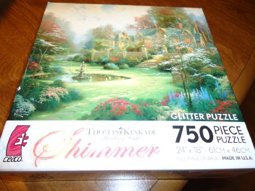Beyond Spring Gate (Ceaco Thomas Kinkade Painter of Light Shimmer Gardens Beyond Spring Gate Jigsaw Puzzle)