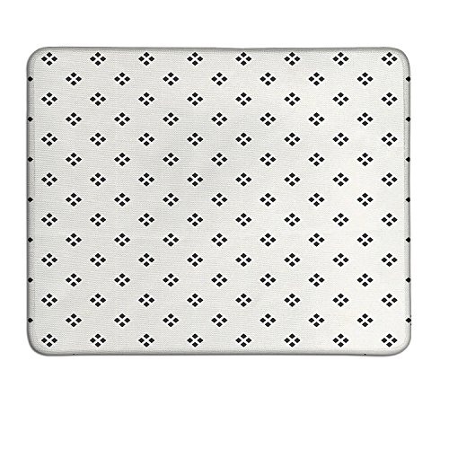 Geometric patterned mouse pad Pale Grey Backdrop Modern Geometrical Contemporary Image with Dots Printcustomized mouse pad Black and White