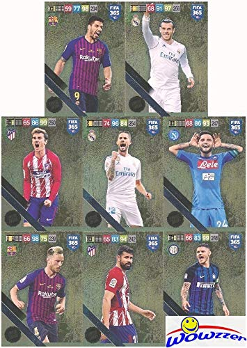 - 2019 Panini Adrenalyn XL FIFA 365 EXCLUSIVE HUGE EIGHT(8) Card Limited Edition Set! Rare Set Imported from Europe! Including Gareth Bale, Luis Suarez, Ivan Rakitic, Isco, Diego Costa & More! WOWZZER!