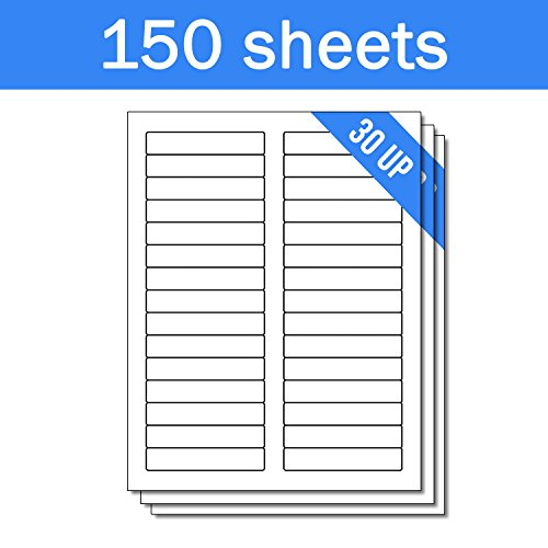 OfficeSmartLabels Rectangular 2/3 x 3-7/16 File Folder Labels for Laser & Inkjet Printers, 0.6 x 3.43 Inch, 30 per sheet, White, 4500 Labels , 150 Sheets