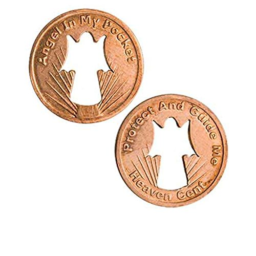 Sterling Gifts Angel Pennies Guide Me, Cut-out Angel, Copper - Pack of 50 Penny Coins