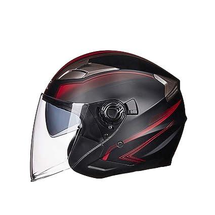 Amazon.es: Casco Completo De Motocicleta Modular con Visor ...