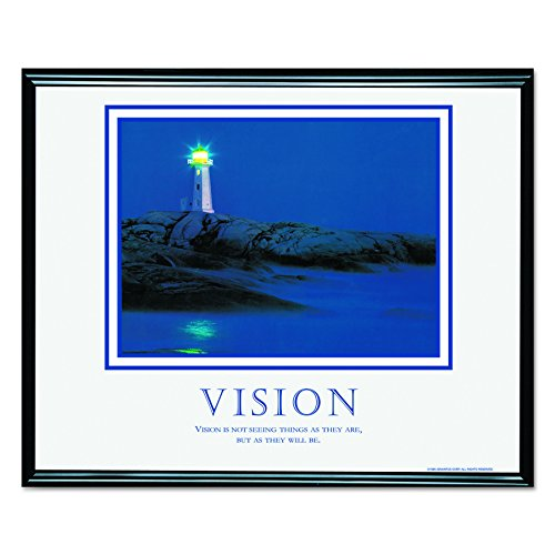 ADVANTUS Framed Motivational Print, Vision, 30 x 24 Inches, Black Frame (78018)