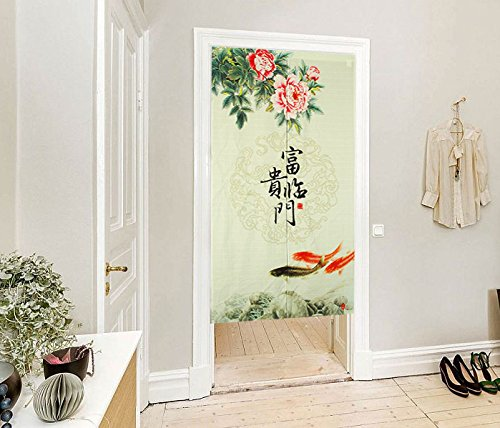 LifEast Chinese Impression Old Countryside Style Door and Window Treatment Curtains (Red) by LifEast