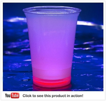 GlowUP Cool Glow Cups 12oz. Red (50 per pack!)
