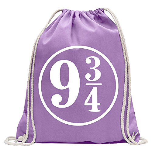 KIWISTAR - Platform 9 3/4 London Kings Cross Fun backpack sports bag fitness Gymbag shopping cotton with drawstring