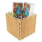 expresso rug - GreenSun(TM) 9pcs Soft EVA Foam Wood-Grain Baby Kid Crawl Puzzle Mat Exercise Yoga Picnic Pad Carpet Storage Box Bin