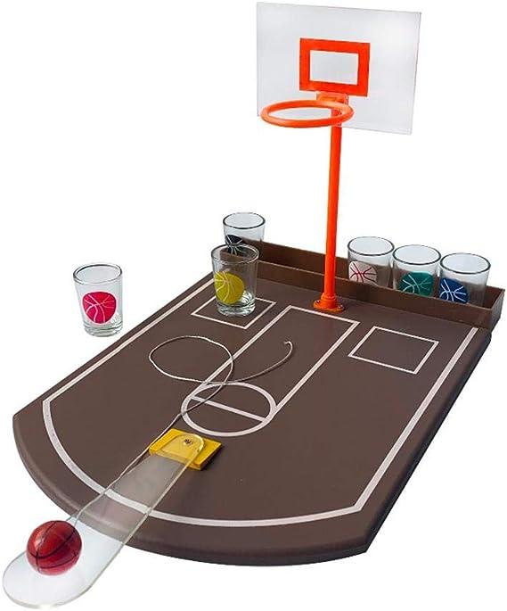 Mini Mesa De Baloncesto Juego De Beber Vaso De Baloncesto, Vaso De Chupito Corn Hole Toss Mini Juego De Baloncesto para Bar Diversión Juego De Beber: Amazon.es: Hogar