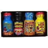 Ass Kickin Xtreme Heat Hot Sauce, Mini's, 3 Ounce by Ass Kickin'