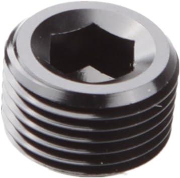 "2 pieces 1//8/"" NPT Pipe Thread Allen Socket Plug Aluminum Black HIGH QUALITY!"