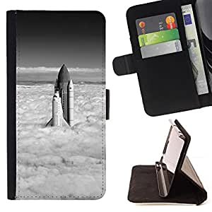 DEVIL CASE - FOR Samsung Galaxy S4 IV I9500 - Rocket - Style PU Leather Case Wallet Flip Stand Flap Closure Cover