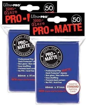 Ultra Pro PRO-Matte Standard Deck Protectors, Pack of 100, Blue