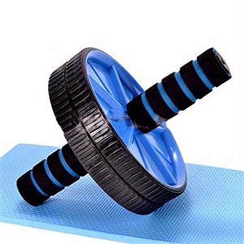 Pas de bruit Nouvelle Roue abdominale bleu Ab Roller avec Mat pour faire de l'exercice de l'équipement de conditionnement physique