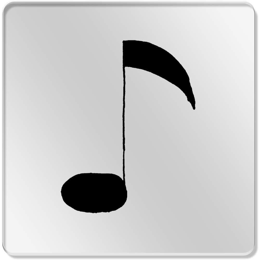 Decoración del hogar Azeeda 6 x Nota Musical 95mm Cuadrado Acrílico Transparente Posavasos CR00045817
