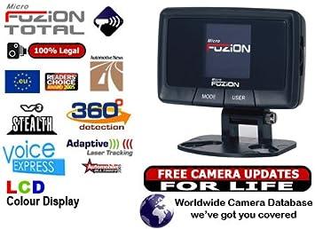 Pequeño GPS Microfuzion Total con base de cámara de velocidad Detector de tensión con pantalla LCD y de voz annuncios: Amazon.es: Electrónica