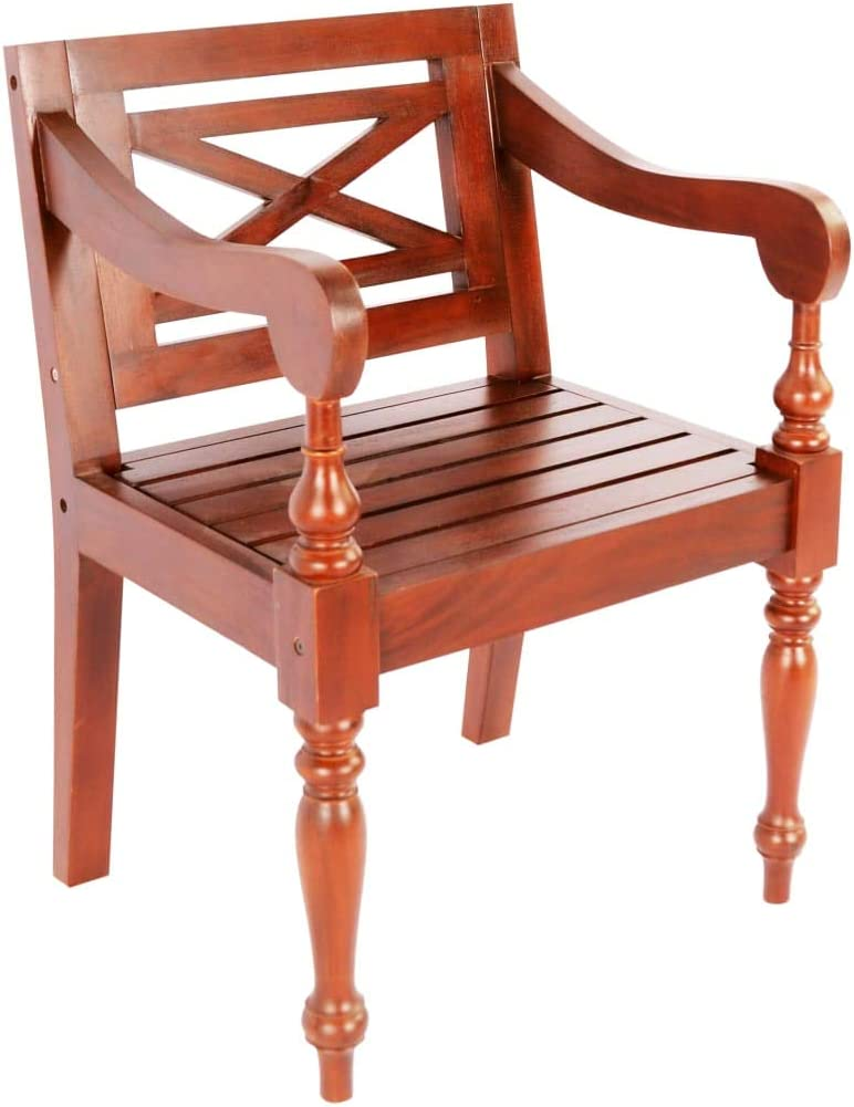 Tidyard Panca Batavia White Chairs Indoor Outdoor Sgabello da Giardino in Massello di Legno di Mogano 98x50x82 cm Bianco