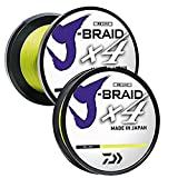 Daiwa JB4U40-300FY J-Braid X4 300 yd Spool 40 lb Test Fishing Line, Fluorescent Yellow Review