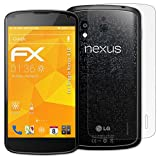 atFoliX Screen protection Google Nexus 4 (LG) Protective film Screen protector - Set of 3 - FX-Antireflex anti-reflective