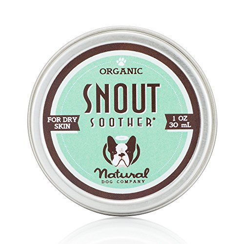 Natural Dog Company - Snout Soother | All-Natural Remedy for Chapped, Crusty, and Dry Dog Noses | Veterinarian Recommended - 1 Oz Tin