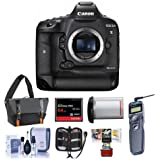 Canon EOS-1DX Mark II Digital SLR Camera - Bundle 64GB Compact Flash Card, Camera Bag, LP-E19 Battery, Remote Shutter Trigger, Cleaning KIt, Memory Wallet, Mac Software Package