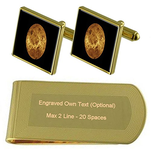 tone Money Gold Engraved Clip Cufflinks Set Planet Gift Mercury xIE5qTcUwU