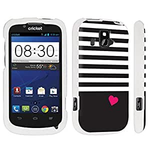 DuroCase ? ZTE Overture Z995 Hard Case White - (Stripe Heart)