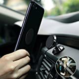 Magnetic Phone Car Mount Holder, Universal Dashboard Car Phone Holder for iphone, iPhonePlus Samsung Galaxy phones Note 8 Google Pixel/LG and GPS, Black, Magnetic Phone Car Mount - Best Phone Holder