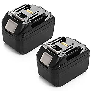 Powerextra 2Pack 18V 5.0Ah Lithium-Ion Battery with LED Indicator for Makita BL1830 BL1840 BL1850 LXT-400 194204-5 Cordless Power Tools