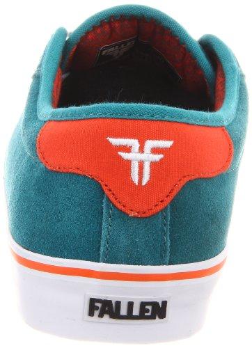 Fallen FORTE 23818004 - Zapatillas de skate de ante para hombre Verde (Grün (teal/bright orange/fury))