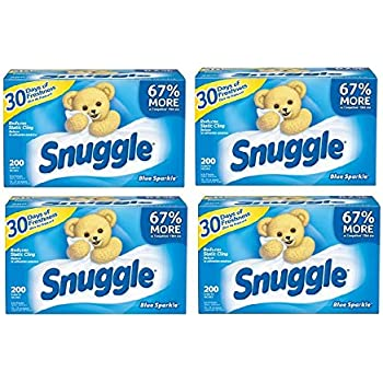 Snuggle Blue Sparkle Fabric Softener Dryer Sheets With Fresh Release, 200ct (4)