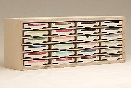 24 Ink Pad Holder By Stamp N Storage Amazoncouk Kitchen Home