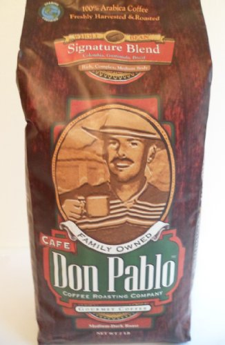 Don Pablo Coffee Roasting Company Gourmet Coffee Whole Beans , Medium-Dark Roast, Net Wet 2 LB (Pack of 2)