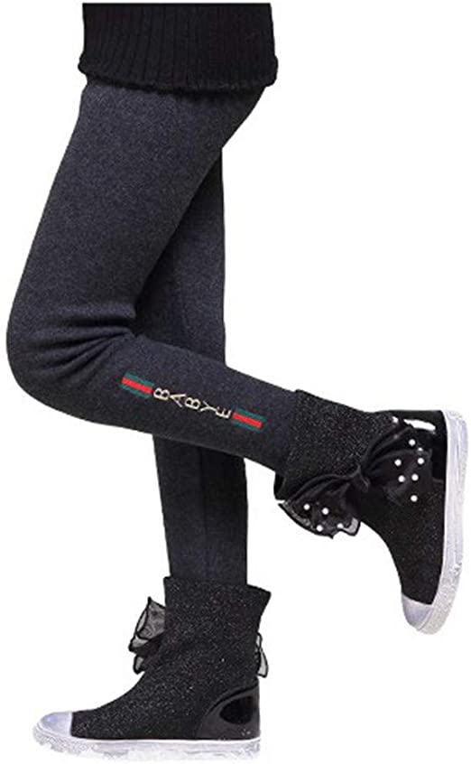 For Kids Children Girls Winter Warm Fleece Leggings Stretchy Trousers Pants