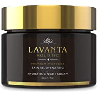 Lavanta Holistic Skin Rejuvenating & Hydrating Night Cream - 50g - Premium Ayurveda Free From Parabens, Silicones, Artificial Colors & Sulfate - Improve Radiance & Effectively Clarify Skin by Lavanta