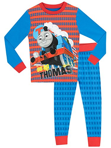 Apparel Train (Thomas & Friends Boys' Thomas The Tank Engine Pajamas Size 8 Blue)