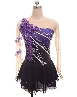 6aab42556f3e Figure Skating Dress Women's Girls' Ice Skating Dress Purple Flower Halo  Dyeing Spandex Micro-