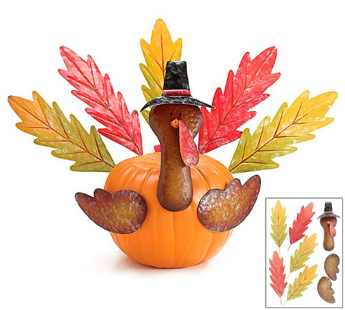 Thanksgiving Pumpkin Turkey Making (Decorating A Turkey)