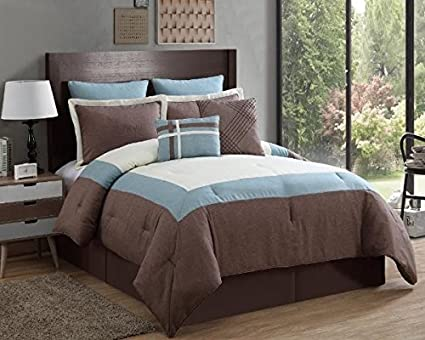 King-Yellow Luxury Home 8-Piece Amadora Comforter Set