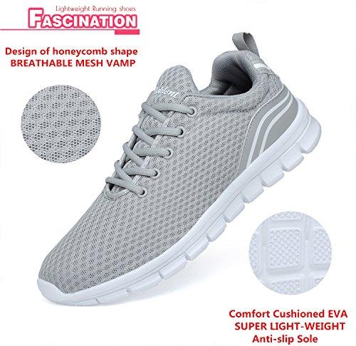 Belilent Scarpe Da Corsa Da Donna - Scarpe Da Ginnastica Sportive Traspiranti Leggere E Traspiranti Moda Sneakers Grigio / Bianco-815