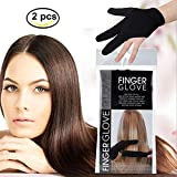 CCbeauty 2Pcs Professional Heat Resistant Gloves 3 Finger Mittens...