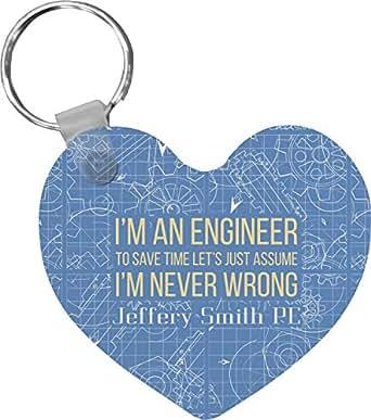 Amazon.com: Llavero de corazón con citas de ingenieros ...