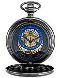 KS Full Hunter Constellation Roman Numerals Markers Skeleton Mechanical Pocket Watch KSP120