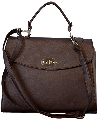 Lucieelle - Cross Brown Plastic Bag For Women