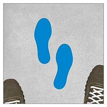 180 x 70 mm // 1 Paar//Blau Selbstklebende Bodenmarkierung Fu/ß//F/ü/ße Paarweise Aufkleber Fu/ßabdr/ücke Fu/ßabdruck