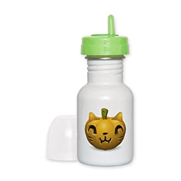 sippy cup orange lid kitty cat halloween jack o lantern