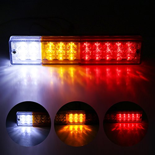 Price comparison product image Powstro 2pcs 20-LED Car Rear Tail Light Waterproof 12V Reverse Indicator for Caravan Truck UTE